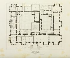 Floor plan of Longleat House, Wiltshire