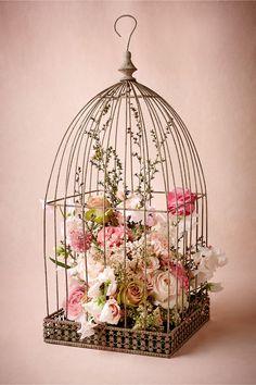 Vogelkäfig für Blumendeko