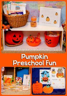 Pumpkin Theme Preschool fun from @{1plus1plus1} Carisa