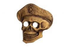 """FULL SIZE LAPEL PIN BADGE """"SOLDIER OF FORTUNE"""". The skull emblem is originated from the pirates', and the like daredevils', tattoos.  Nowadays, the use of this emblem in the Soviet and later – Russian army can be traced back to the wars in Afghanistan and Chechnya.  Since the Soviet era, in many military units an old paratrooper has been often called """"a skull."""" #military #pinbadge #gifts #souvenirs #decoration #spetsnaz #specialforces #skull #death #pirate #uniforms #bones #skeleton #tatoos"""