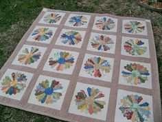 Dresden Plate Quilt layout ... gorgeous!!!