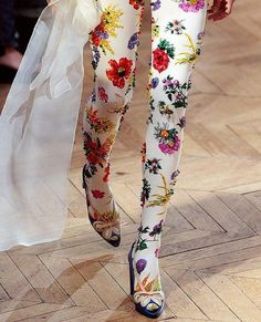 flowery tights -- wow!!