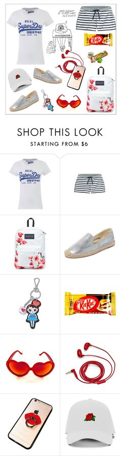 """""""THANKS GOD!!! THE SCHOOL IS OVER!!!"""" by kskafida ❤ liked on Polyvore featuring Superdry, T By Alexander Wang, JanSport, Soludos, Love Moschino, Gasoline Glamour, FOSSIL and Chicnova Fashion"""