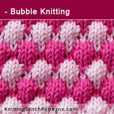 Bubble Knitting. Free Knitting Pattern includes written instructions and video tutorial.