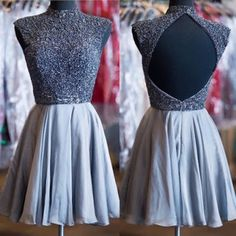 Open Back Homecoming Dress,High Neck Homecoming Dress,Junior Homecoming Dress, Party Homecoming Dress,Graduation Dress , Homecoming Dress ,Prom Dress for Teens,17614
