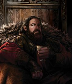 King Robert Baratheon from The World of Ice and Fire.