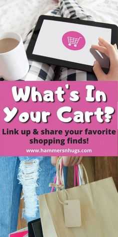 """Discover latest Amazon finds, Walmart fashion finds, home decor sales, or any favorite shopping find this month and bloggers link up to share """"what's in your cart""""!  Tap on the pin to visit hammersnhugs.com and discover lots of new shopping finds!  #amazonhaul #fashionfinds #homedecor #targetdeals #walmartfashion #amazonfinds #onlineshopping #amazonfinds Leggings Depot, Walmart Deals, Online Shopping Deals, Easy Diy Gifts, New Shop, Birthday Fun, Happy Shopping, The Balm, Cart"""