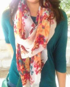 Favorite floral scarf! It's from Target