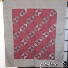 Primitive PA 1890s Jacobs Ladder Antique Quilt Cranberry Mennonite Lancaster Cty | eBay