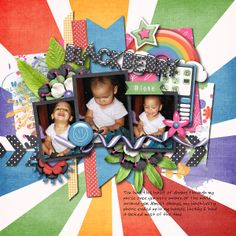 Digital Scrapbook Layout by Ophelia | Txt Me by Bella Gypsy