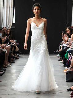 93159ce109401 Nouvelle Amsale Spring 2019 lace wedding dress with tulle skirt New Wedding  Dresses, Lace Wedding