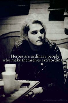 Gerard Way. He is such a fascinating person.