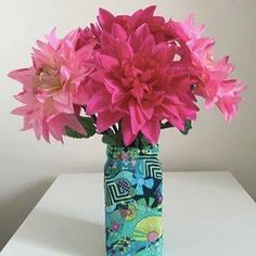 Cute decoupage vase. Sorry no instructions, just inspiration.