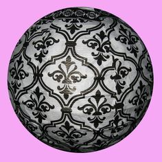 Black & White Chinese Paper  Lantern 8 Damask by houseofseza on Etsy.com