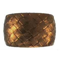 """Embossed Woven Pleather 1.75"""" Wide Bangle, Vibe! In Bronze . $7.99. Save 68% Off!"""
