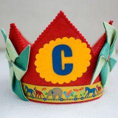 Circus Birthday crown