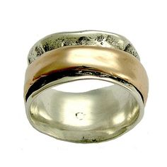 Rustic Mens Wedding band silver wedding ring silver by artisanlook