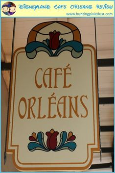 Today, we are reviewing Disneyland�s Cafe Orleans. The Caf� Orleans is a favorite restaurant for us..  We eat at this restaurant at least once a trip and sometimes we go a few times.  The food is great and the atmosphere is amazing. Disneyland Dining, Disneyland Restaurants, Disneyland Pins, Disneyland Secrets, Disneyland California, Disneyland Resort, Disney Souvenirs, Walt Disney World Vacations, Disney World Tips And Tricks