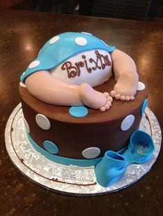 Baby boy tooshie , by Sweet Layers Cakes & Pastries, in Murrieta , Ca.