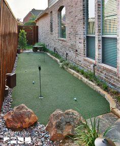 Backyard artificial putting green design and construction by AquaTerra Outdoor Environments www.aquaterraoutdoors.com