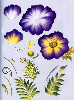 donna dewberry one stroke painting - Yahoo Image Search Results One Stroke Painting, Diy Painting, Painting & Drawing, Painting Flowers, Fence Painting, Drawing Flowers, Donna Dewberry Painting, Acrylic Painting Techniques, Easy Paintings