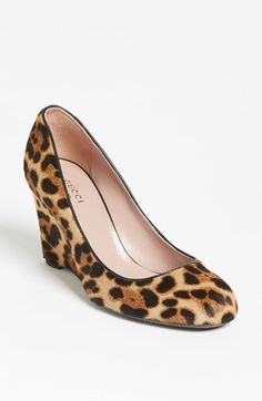 Gucci 'Charlen' Wedge Pump available at #Nordstrom