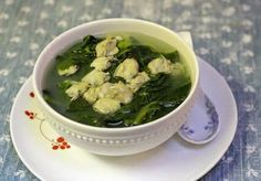 Asian Spinach Soup with Hard Clams - Canh Mồng Tơi nấu Nghao