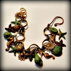 Sea Horses Braelet in Copper and Verdigris by PuttingontheCharms, $39.58