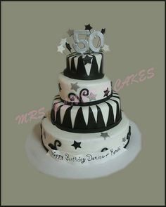 I love the idea of a black and white cake...black and white go with everything!