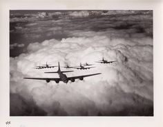 B-17 bombers in formation