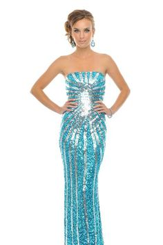 "Precious Formals P8799 at Prom Dress Shop: $318. My favorite color is ""Crystal Copper"""