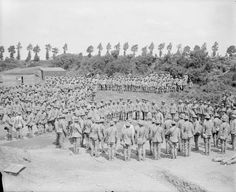 Portuguese troops at the Instructional School at Marthes, 23 June 1917.