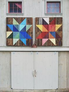 Make quilt blocks for the house and garage.