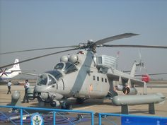 Mi-35 Hind Attack helicopter of the Indian Air Force. Upgraded with Israeli systems.