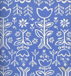 "Vintage Finnish Finlayson ""Tulppaaniruutu"" Fabric designed by Outi Silfvenius in 1978."