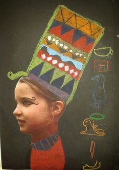 Egyptian Crafts, Egyptian Party, Ancient Egyptian Art, Ancient Egypt Lessons, Ancient Egypt Activities, Ancient History, History Projects, School Art Projects, Doodle Drawing
