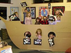 Giant Cardboard Pirate Ship by The Photography of Patrick L Goodman, via Flickr