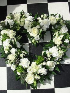 Image result for double open heart funeral flowers