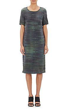 Tie-Dyed Charmeuse Midi-Dress