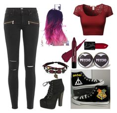 """Photograph"" by lavonneb88 ❤ liked on Polyvore featuring Paige Denim, Breckelle's and Converse"