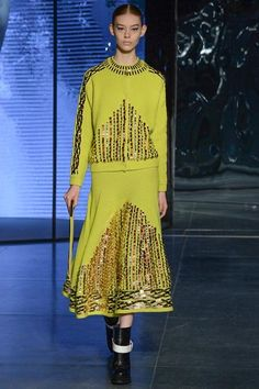 Kenzo | Fall 2014 Ready-to-Wear Collection | jeweled citron knits #mizustyle