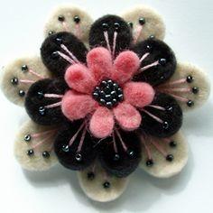 Layered felt flower