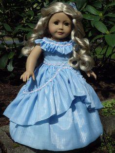 Blue Cinderella Inspired Dress for American Girl Dolls