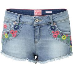 Superdry Folkloric Hotpants ($70) ❤ liked on Polyvore