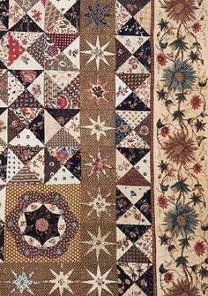 cotton patchwork quilt, Dutch, circa 1795–1800........love the tiny stars