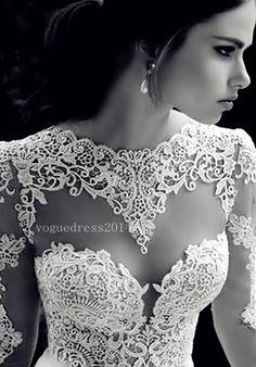 .love the lace #weddingdress