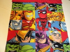 Superhero Baby Blanket. Marvel Theme for Babys room. (And this one too.)