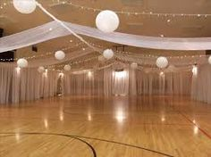 Image result for decorating a gym for a wedding