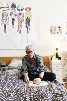 Richard Haines - Illustrator, at Home in Brooklyn November 11th 2012, by Shelby