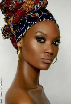 African Head Wraps For LadiesLatest African head wrap styles for beautiful and classy women is all w African Beauty, African Fashion, Ankara Fashion, My Black Is Beautiful, Beautiful Women, Gorgeous Hair, Gorgeous Eyes, Beautiful Body, Beautiful Dresses